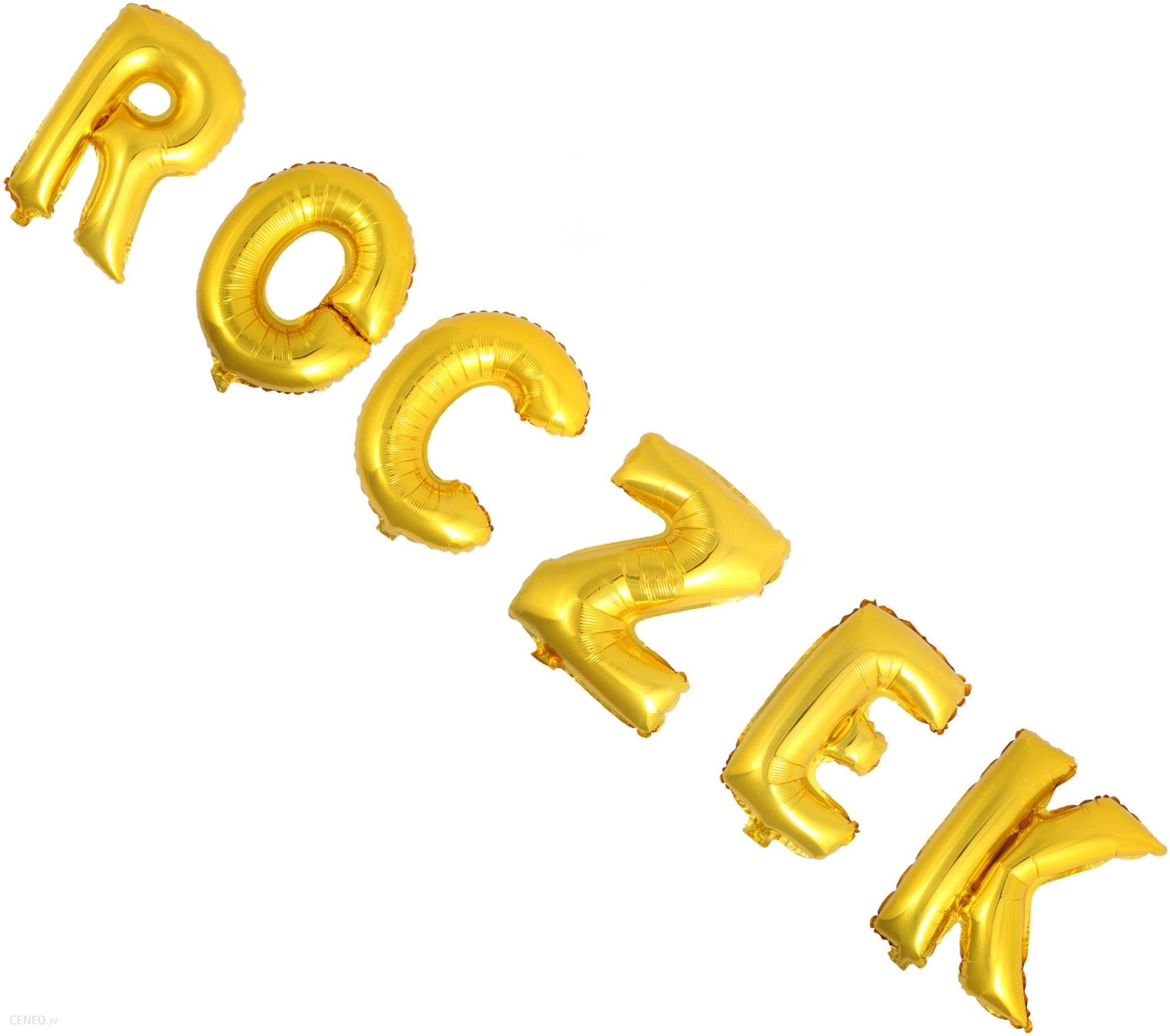 Balony 60cm złote Roczek pierwsze urodziny Hit - Ceny i opinie ... adae515e507d2