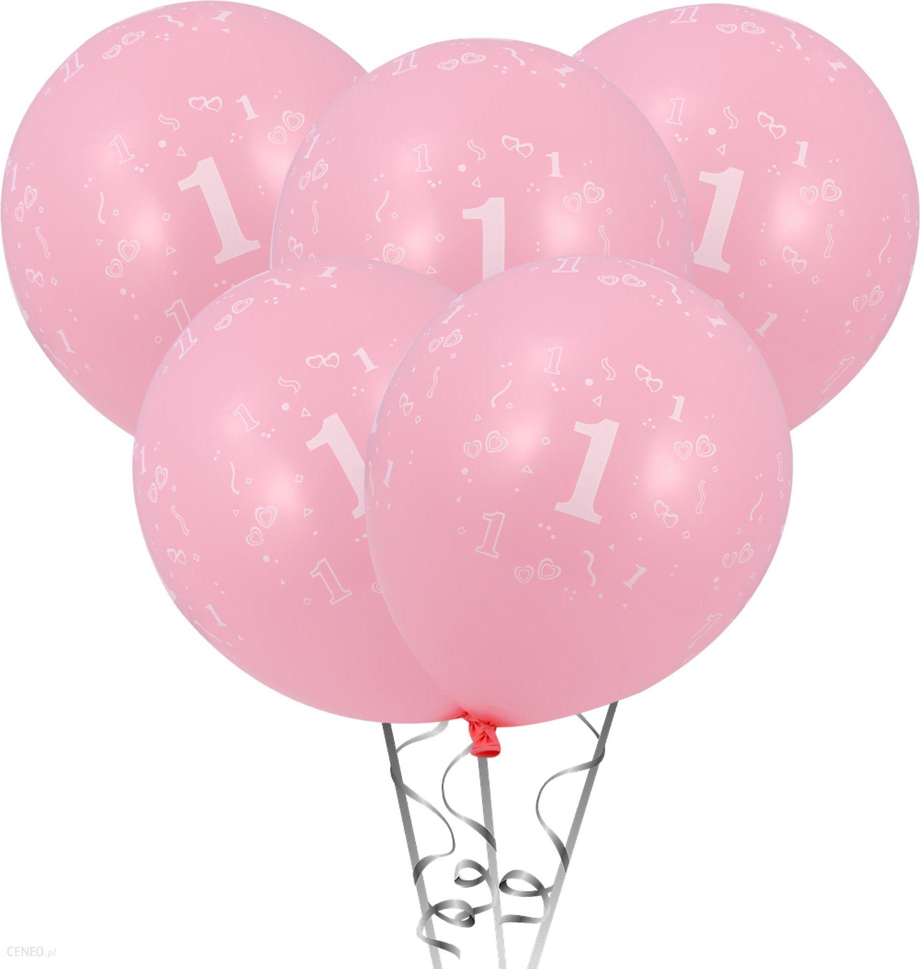 Balony na Roczek Pierwsze urodziny różowe 5szt - Ceny i opinie ... 19e295dc8de7d