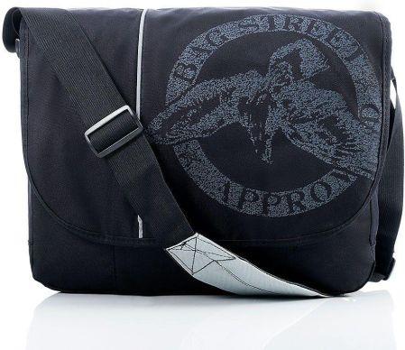 e68b1038eabb Lekka torba męska listonoszka na laptopa czarna