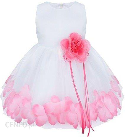 efed13c9c5450c Amazon yizyif Baby sukienka dla dziewczynki z płatków kwiatów sukienka do  chrztu Odświętna sukienka na wesele