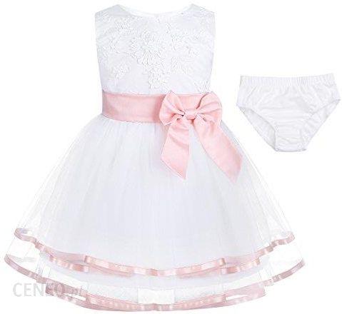38d258cded Amazon Free bily sukienka Baby sukienka dziewczęca chrzest dziecka świąteczne  sukienki księżniczki na wesele 3d