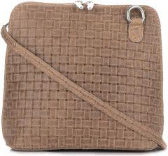 4391af43e23f8 Mała Włoska Torebka Skórzana Listonoszka firmy Genuine Leather Ziemista ...