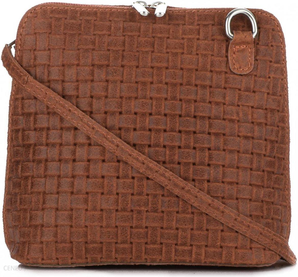 04077a393b4b2 Mała Włoska Torebka Skórzana Listonoszka firmy Genuine Leather Ruda -  zdjęcie 1