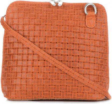 cef679aff0c02 Mała Włoska Torebka Skórzana Listonoszka firmy Genuine Leather Pomarańczowa