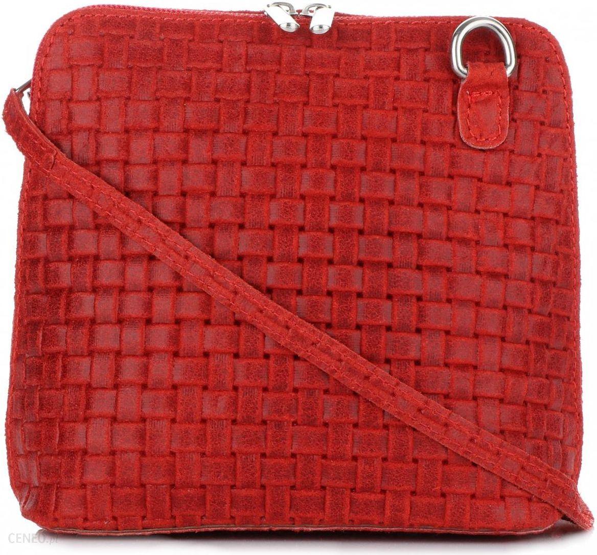 87c35813e46d9 Mała Włoska Torebka Skórzana Listonoszka firmy Genuine Leather Czerwona -  zdjęcie 1