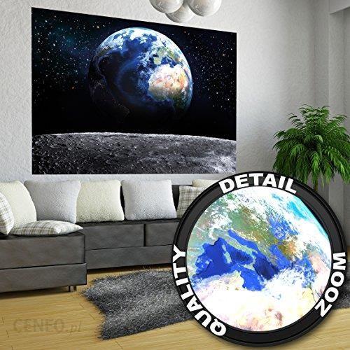Amazon Plakat świata Obraz Na ścianę Dekoracja Blick Auf Die Erde Aus Dem Wszechświat Księżyc Sky Planet Galaxy Universum All Kosmos Kula Ziemska Gwia