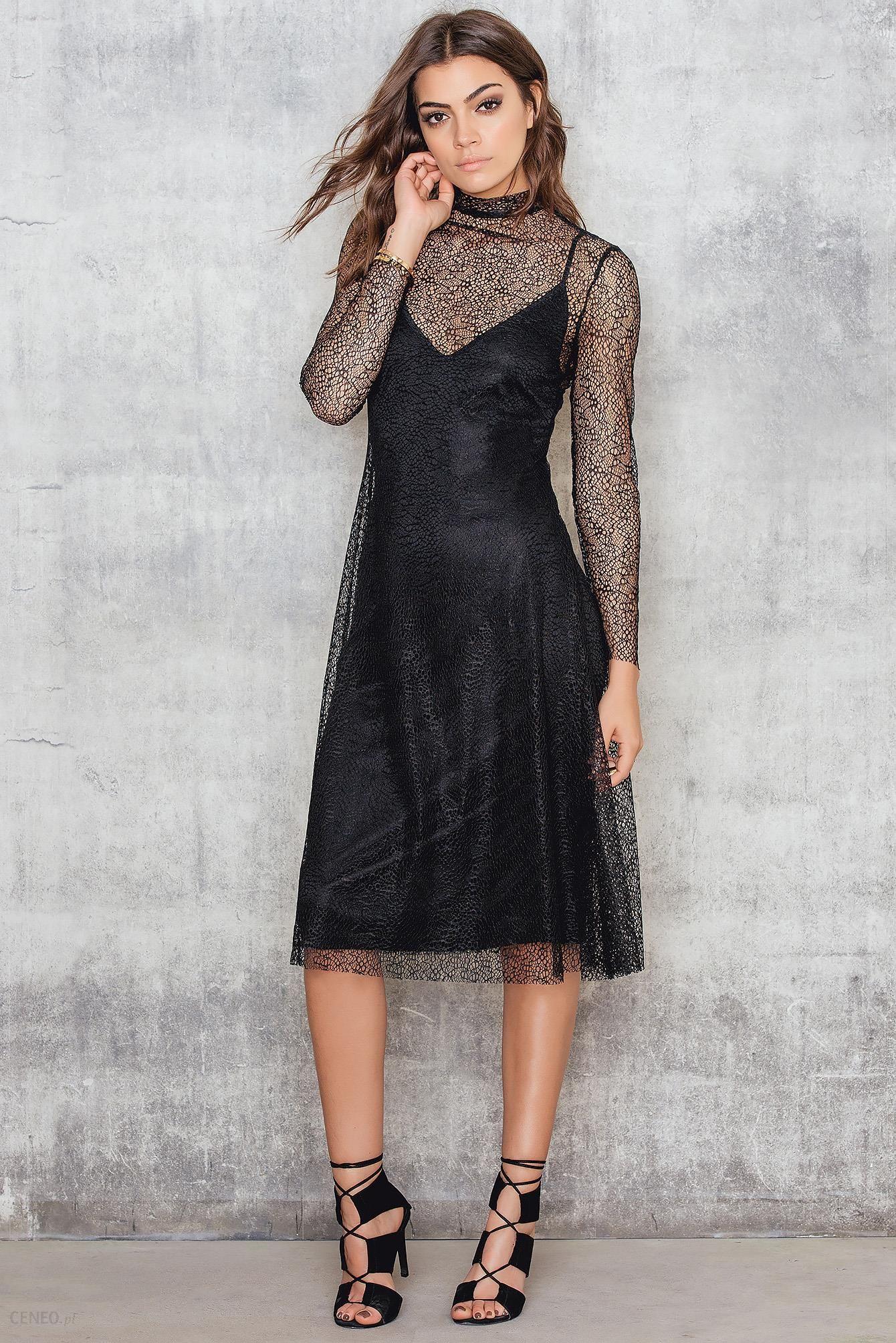 8bfd1860f NA-KD Trapezowa sukienka midi z koronką - Ceny i opinie - Ceneo.pl