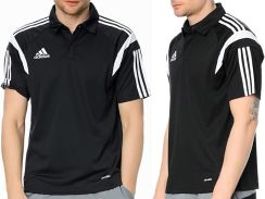 ee5a2a866 Adidas ClimaLite Polo Koszulka Czarna Męska roz XL