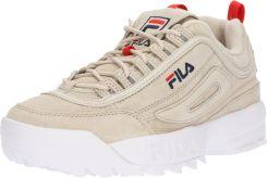 47922c521a9c0 FILA Trampki niskie 'Disruptor low'. Beżowe buty sportowe damskie Zamsz ...