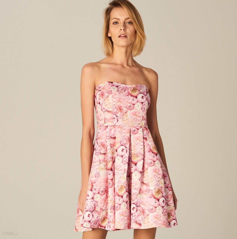 bf0f36950f Mohito - Rozkloszowana sukienka bez ramiączek - Różowy - Ceny i ...