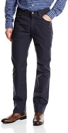 828212a206 Amazon Wrangler męskie spodnie Arizona Stretch granatowy (marynarski) - prosta  nogawka niebieski (granatowy