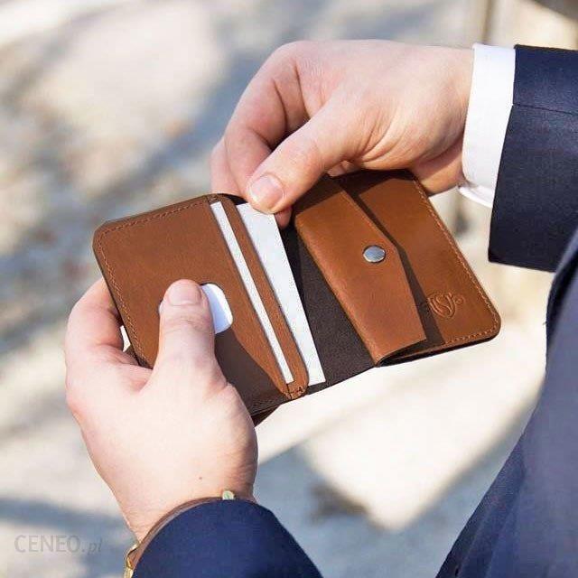 40a05eb7402f30 Skórzany cienki portfel męski z bilonówką SOLIER SW16 SLIM brąz - Brązowy -  zdjęcie 1