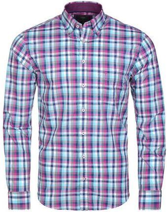 ce3aad924e167a Czerwona koszula męska w kratę z długim rękawem Bolf 6888 - Ceny i ...