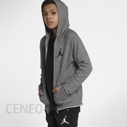 Rozpinana bluza z kapturem dla dużych dzieci (chłopców) Jordan Sportswear Wings Lite Szary Ceny i opinie Ceneo.pl