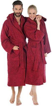 83d6117321ad30 Amazon Szlafrok kąpielowy z kapturem bawełna, do sauny dla kobiet i  mężczyzn, wysokiej jakości