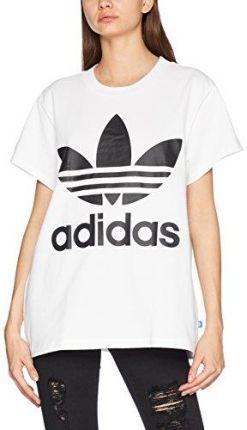 Amazon Adidas damski Big trefoil T-Shirt - logo 32 biały 745d63b096f