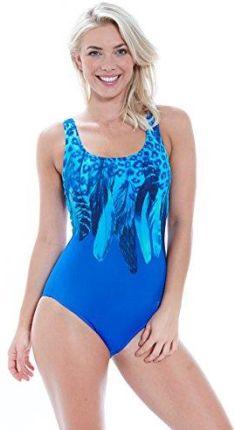 1803fcb21a18de Amazon zoggs Women's niebieskie Planet Scoop Back kostium kąpielowy,  niebieski