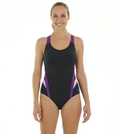 ddf9087b061ddc Amazon zoggs damski kostium kąpielowy Brisbane X Back, czarny, 20 cm