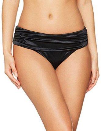 57021bf5139608 Amazon pour Moi? Spodnie damskie bikini Jet Set Shine Fold over Brief -  czarny