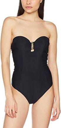 6e1e3a893209f1 Amazon Calvin Klein jednoczęściowe damski Bandeau One Piece - wyściełany  czarny (czarny)