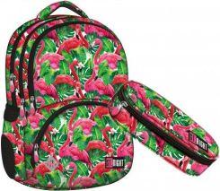 24d4f5026819f St.Majewski St.Right Zestaw Plecak Piórnik Flamingo Pink Green 2W1