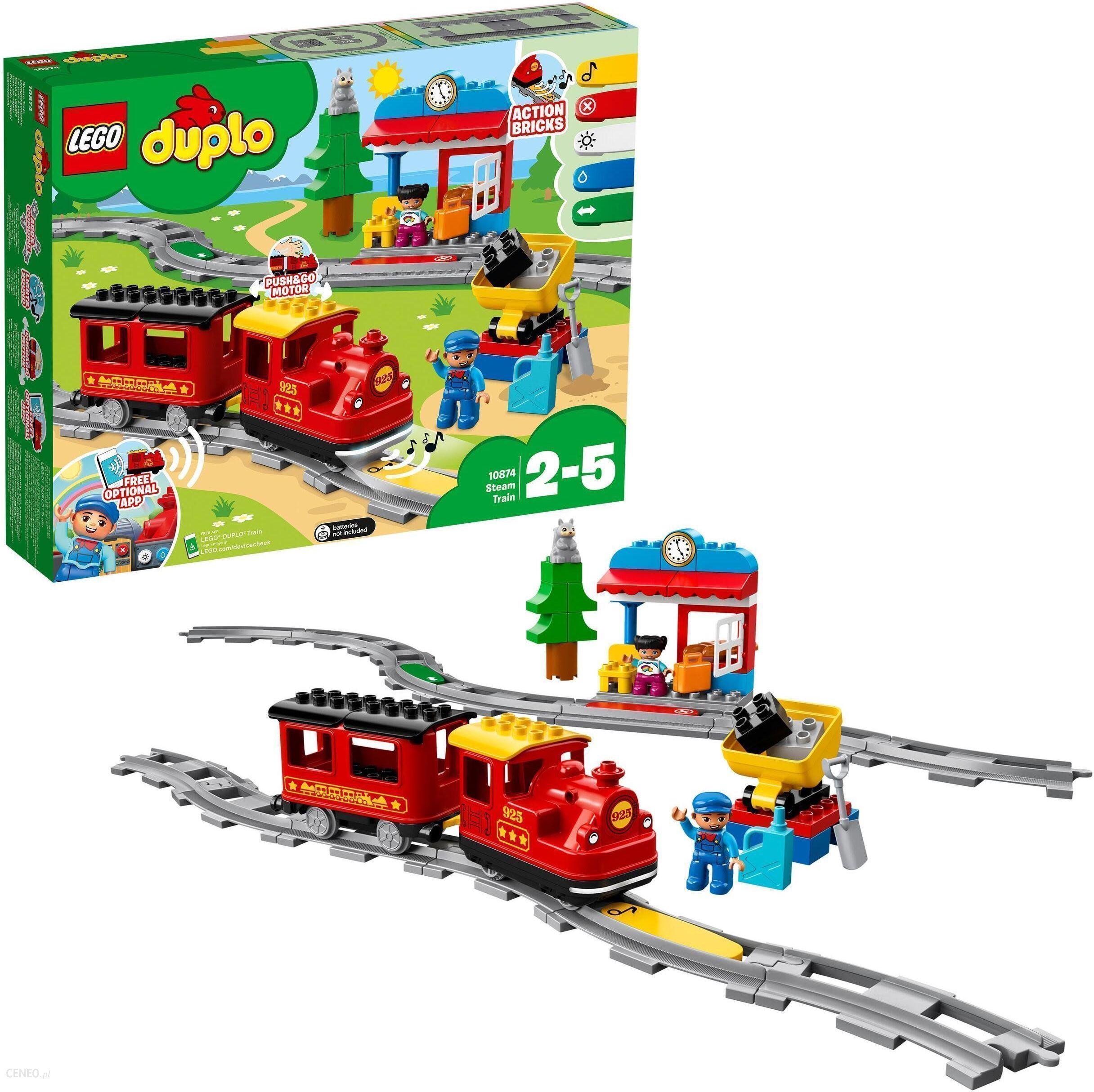 Klocki Lego Duplo Pociąg Parowy 10874 Ceny I Opinie Ceneopl