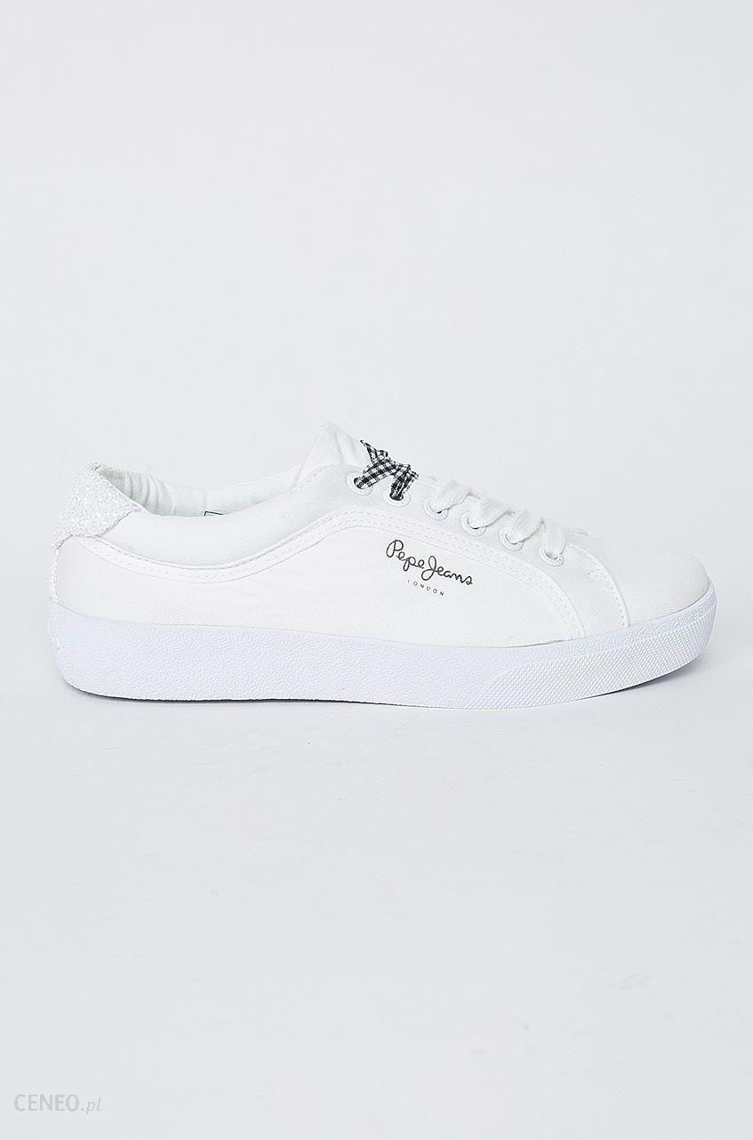Pepe Jeans Tenisówki Damskie Stark Combi 37 Biały Trampki
