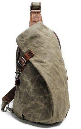 be26f1072842d Amazon neuleben wodoszczelny plecak na ramię ze Canvas Vintage unisex  Mężczyźni mały Sling plecak torba na