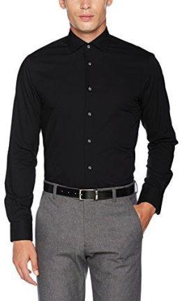 6e522d668e7d8 Amazon Tommy Hilfiger koszula męska Business Core Stretch poplin Slim  Shirt, kolor: czarny (