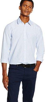 b7432bf7b1c79a Amazon Koszula New Look Bengal Fine Stripe dla mężczyzn, kolor: niebieski,  rozmiar: