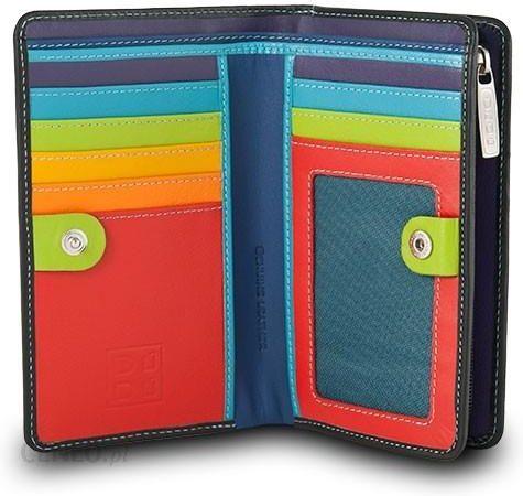 1212f2676e095 Skórzany portfel damski marki DuDu®, czarny + kolorowy środek - zdjęcie 1