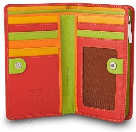 84e381d5e174b Skórzany portfel damski marki DuDu®, czerwony + zielony - Ceny i ...