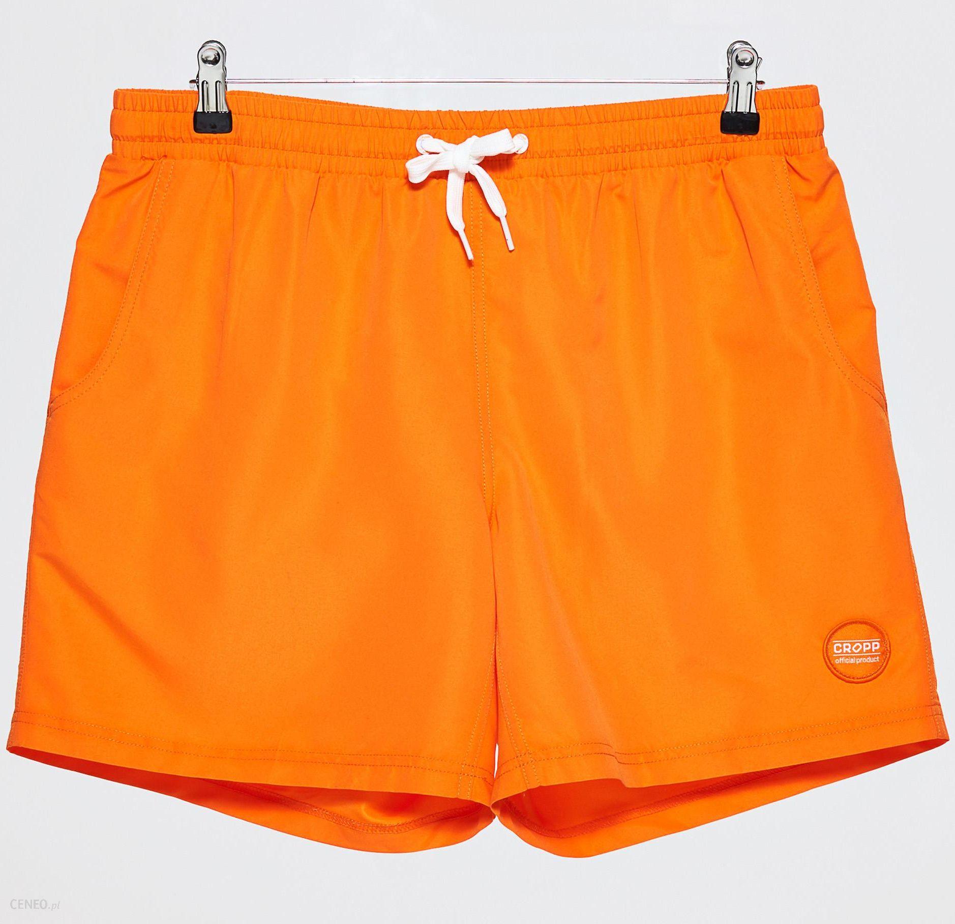 Spodenki szorty adidas. Pomarańczowe kąpielówki damskie 36