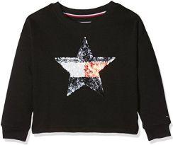 e67d54800f3e1 Amazon Tommy Hilfiger dziewczynka bluza H Sequins Star CN hwk L/S - krój  regularny