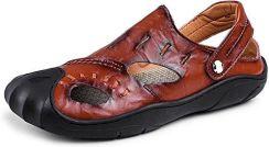 5e612d61 Amazon Męskie buty sandały buty letnie Outdoor-skórzane buty oddychająca  buty plażowe buty miękka Beach