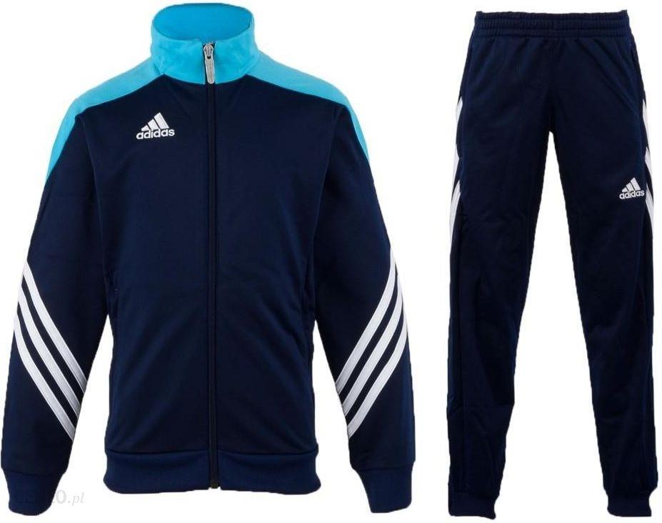 Komplet Dres ADIDAS JR Spodnie Bluza CZARNY 140