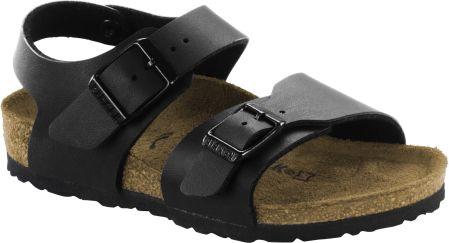 Czarne sandały chłopięce skórzane na rzepy Hasby - czarny - Ceny i ... dd522c710d