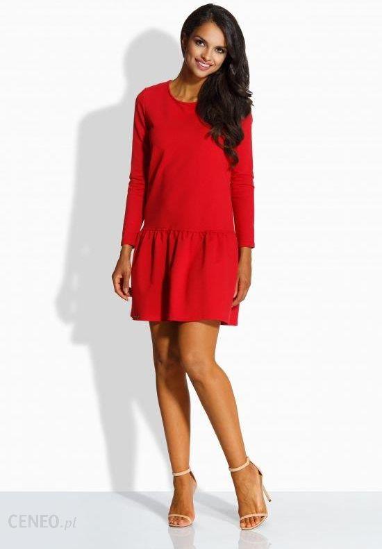 b90af219c7 Lemoniade Elegancka sukienka z kokardą L218 czerwona r. S - Ceny i ...