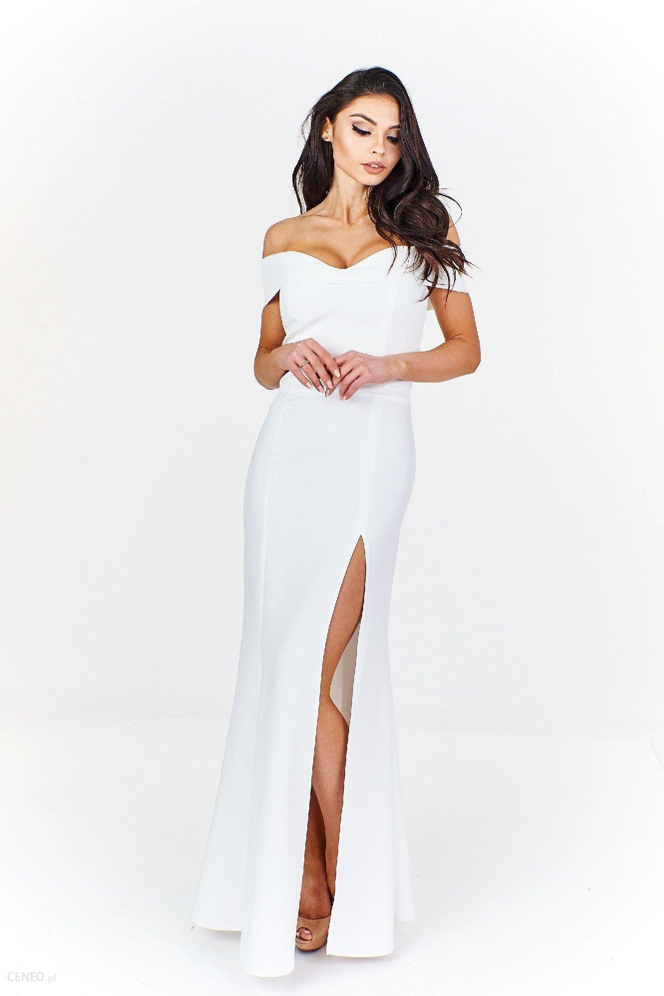 f6e3c11413 Ptak Moda Elegancka sukienka maxi M55510 biała r. 38 - Ceny i opinie ...