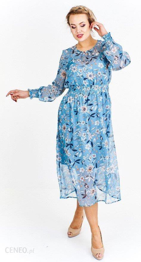 182b796918 Ptak Moda Zwiewna tiulowa sukienka w kwiaty Niebieska r. 44 - Ceny i ...