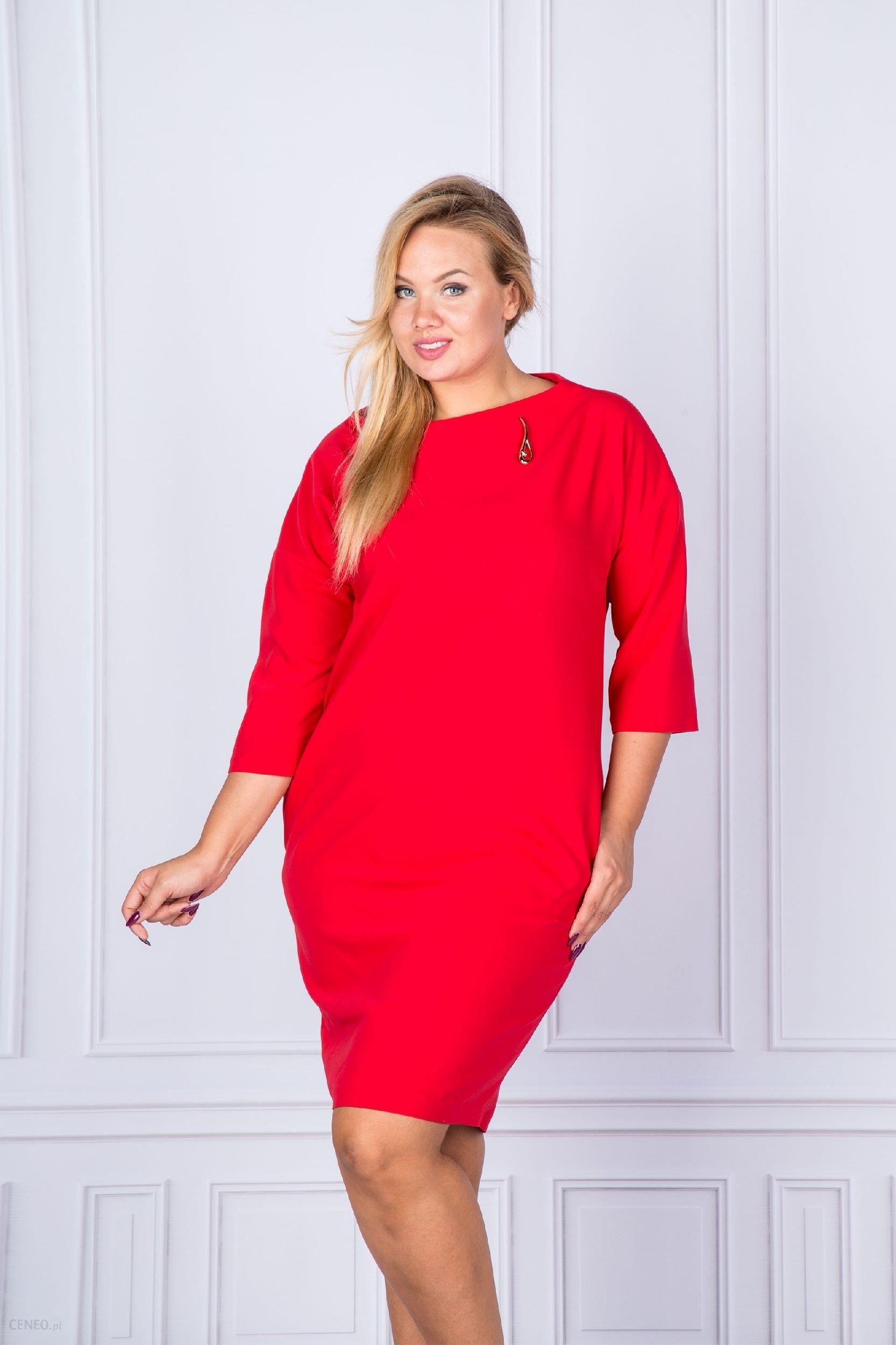 33ef475503 Ptak Moda Sukienka koktajlowa M38105 czerwona r. 46 - Ceny i opinie ...