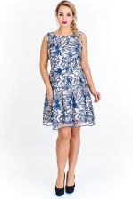 e19c8059 Ptak Moda Koktajlowa sukienka z kontrafałdami M53506 ecru-niebieska r. 46 -  Ceny i opinie - Ceneo.pl