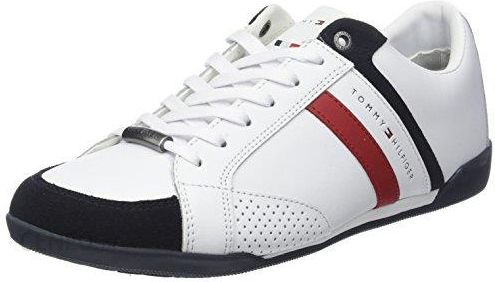 889e8db62b502 Amazon Tommy Hilfiger męski Corporate materiał Mix Cup Sole Sneaker, kolor:  biały (White