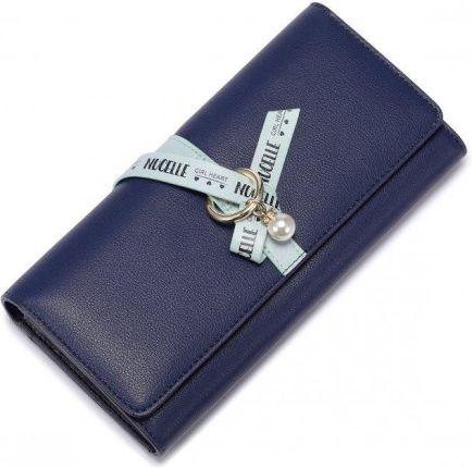 6a69dfa2b42cf Nucelle Długi portfel ze wstążką Niebieski