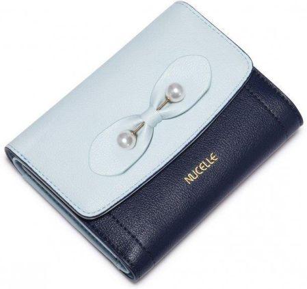 92d70cede9e25 NUCELLE Długi portfel z delikatnymi kwiatkami Niebieski - Ceny i ...