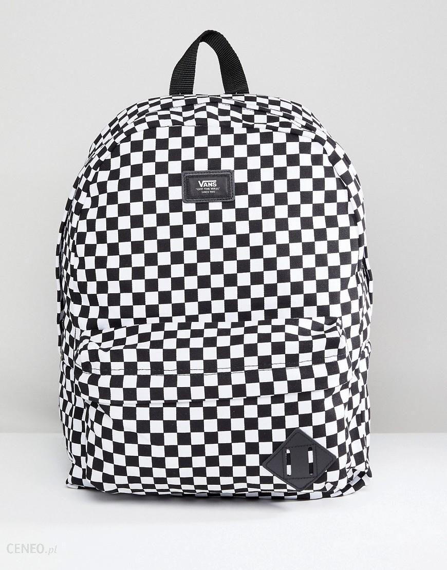 Vans Old Skool II Checkerboard Backpack In Black VONIHU0 Black Ceneo.pl