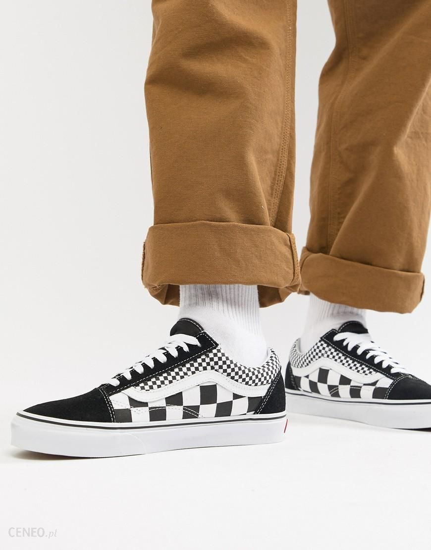 nowe promocje gładki taniej Vans Old Skool Checkerboard Trainers In Black VA38G1Q9B - Black - Ceneo.pl