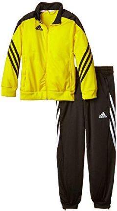 a29e347fc92479 Amazon adidas Sere14 su Y F49710 strój sportowy dziecięcy: bluza i spodnie,  żółto-