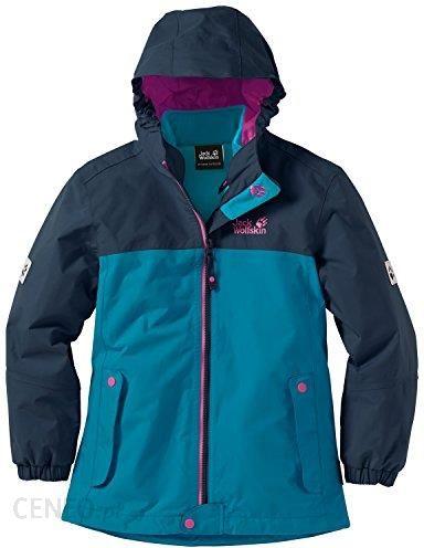 wyprzedaż ze zniżką szczegółowe obrazy świetne oferty Amazon Jack Wolfskin dziewcząt 3-in-1 kurtka Iceland Jacket, turkusowy, 140  - Ceneo.pl