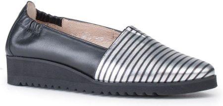 b64ccd4ff5f Marco Shoes Półbuty lico z noskiem nabłyszczanym na koturnie czarne r.